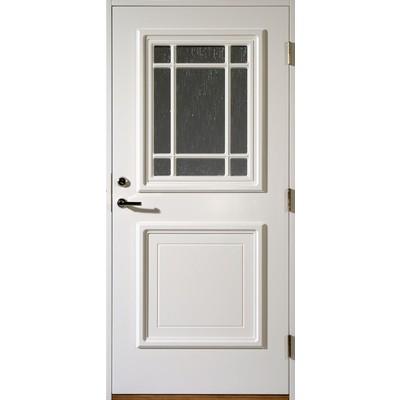 Gammal dörr med glas