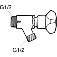 Gustavsberg Tappventil med backventil, Mattkrom