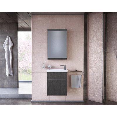 Möbelpaket Iris 45 grå med spegelskåp