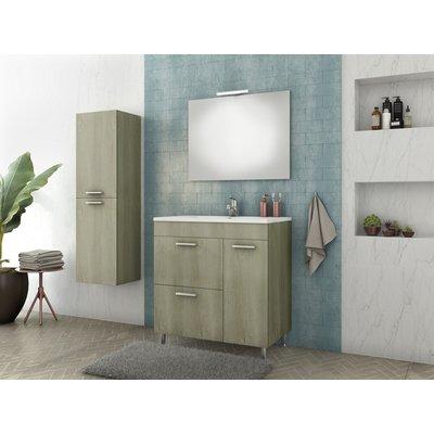Möbelpaket Med 75 - Sandfärgat med spegel & sidoskåp