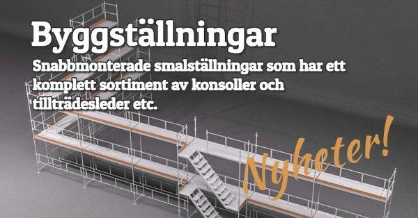Nyheter - Snabbmonterade byggställningar