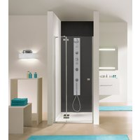 Duschdörr Free Line - 6mm glas (gavel + dörr H 195 cm)