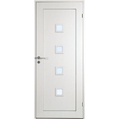 Innerdörr Öland - Massivt dörrblad, 1:spegel med 4 mindre glaspartier