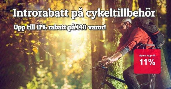 Cykeltillbehör introrabatt 10% på 140 artiklar!