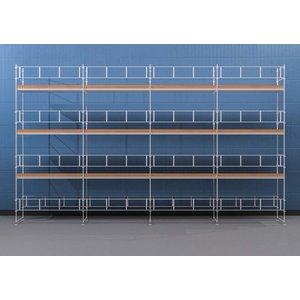 Byggnadsställning HAKI Ram 12x8 m - Aluminium