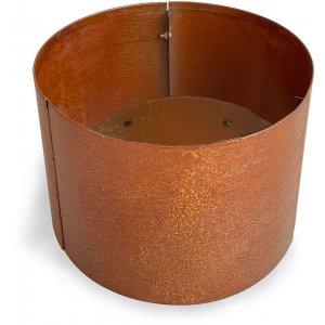 Cortenstål kruka rund - H30 x Ø30 cm