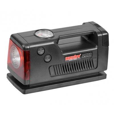 Kompressor med ficklampa och varningsljus - 12V