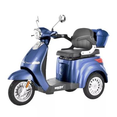 Elmoped Trehjuling 800 W - Blå