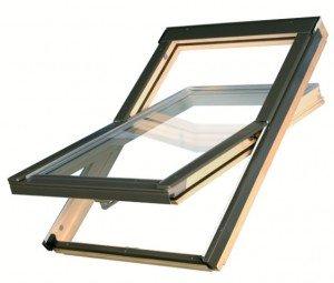 Takfönster 2-glas - Trä (med eller utan intäckningsplåt)