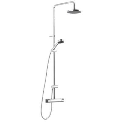 Mora MMIX Shower Kit - Paket med takdusch och duschblandare - Krom/Svart