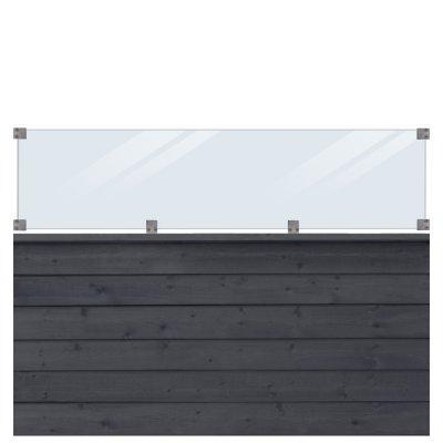 Profilstaket/glas PLUS Klink Svart - 174x125 cm