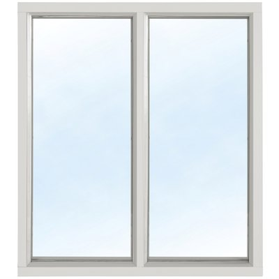 Fast fönster med bågpost - Aluminium - 2-glas