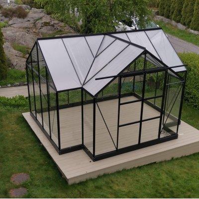 Växthus Triton med härdat glas - 10,2 m²