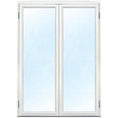 Parfönsterdörr - Helglasad 3-glas - Trä - U-värde: 1,1