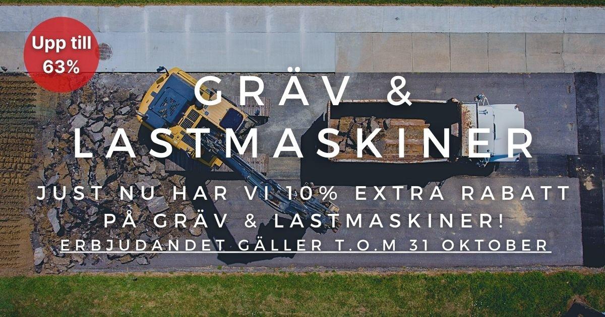 Oktoberkampanj - 10% extra rabatt på Gräv- & lastmaskiner!