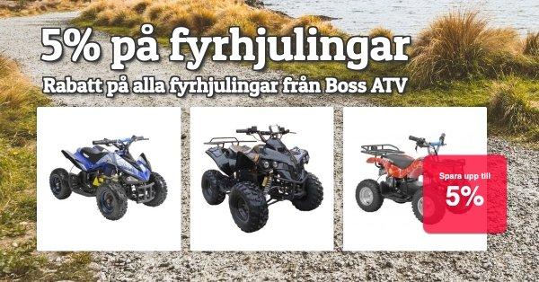 5% på alla fyrhjulingar från Boss ATV