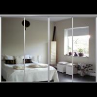 Venedig skjutdörr till garderob - 4 dörrar - Spegel