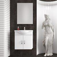 Möbelpaket Alba 65 vit med spegel