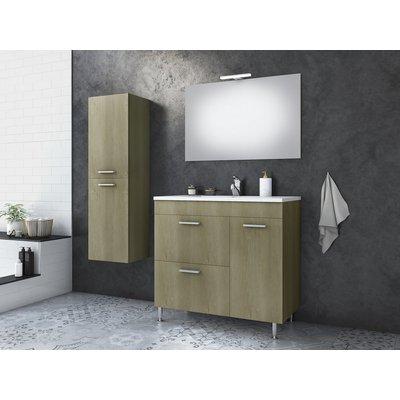 Möbelpaket Med 85 - Sandfärgat med spegel & sidoskåp