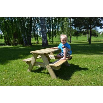 Picknickbord Lisbet för barn - Vitlackerat