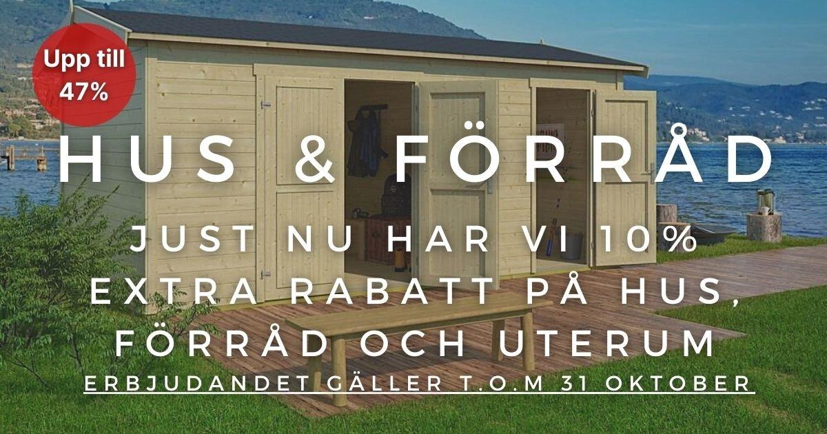 Oktoberkampanj - 10% extra rabatt på utvalda hus & byggsatser!