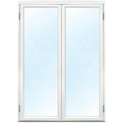 Parfönsterdörr - Helglasad 3-glas - Aluminium - U-värde: 1,1