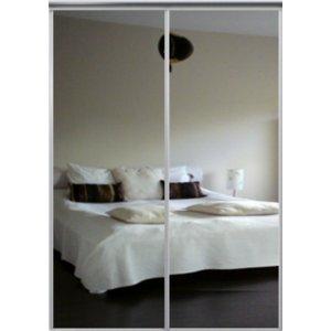 Venedig skjutdörr till garderob - 2 dörrar - Spegel