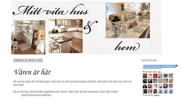 """Vinnare 2015 är \""""Mitt vita hus & hem\"""""""