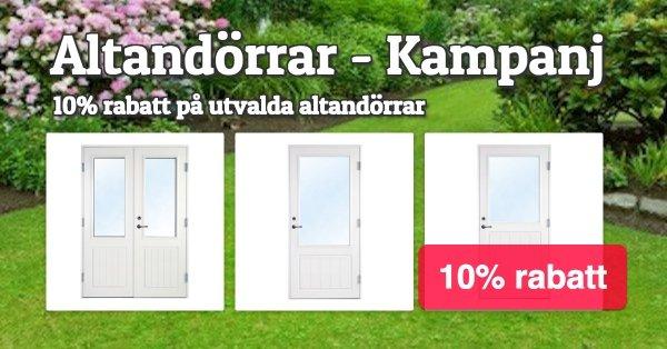 Altandörrar - Kampanj 10% rabatt