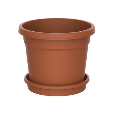 Planteringskruka med fat 1,5 l