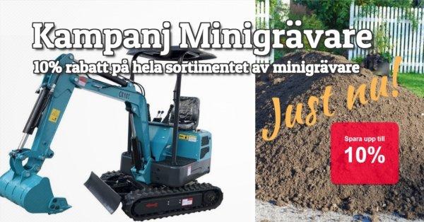 Kampanj Minigrävare - 10% rabatt