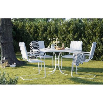 Sandby matgrupp bord inkl. 4 stolar - Vit