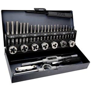 Gängverktygssats, M3-M12 - 32 delar