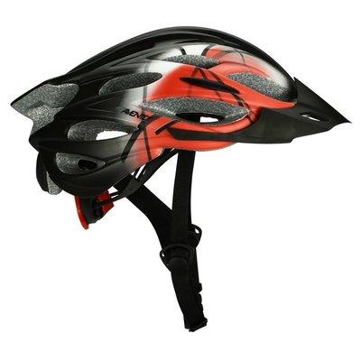 Cykelhjälm senior svart & röd