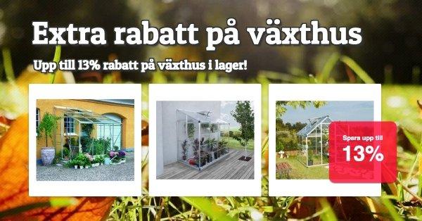 Utvalda växthus med rabatt!
