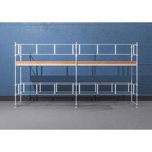 Byggnadsställning HAKI Ram 6x4 m - Aluminium