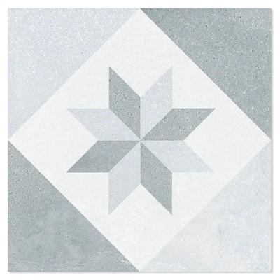 Klinker Miramar Grå-Vit Matt 20x20 cm