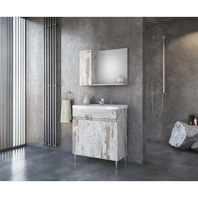 Möbelpaket Trend 85 - Wood Rust-färgat med spegelskåp