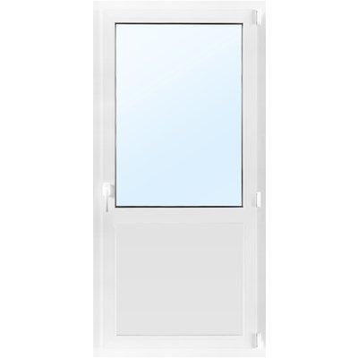 Dörr med fönster 3-glas - Inåtgående med tilt - PVC - U-värde 0,96
