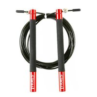 Speed rope med kullager (stålvajer & alu-handtag) Rött