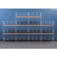 Byggnadsställning HAKI Ram 12x6 m + Gaveltopp - Aluminium