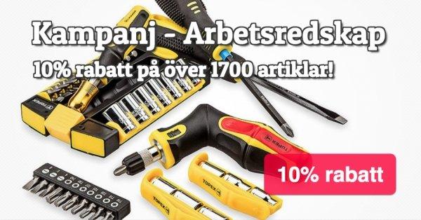 Rea på verktyg & tillbehör - 10% på fler än 1700 artiklar!