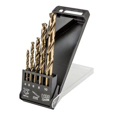 Metallborrsats HSS-Co, 4,0 - 10 mm - 5 delar