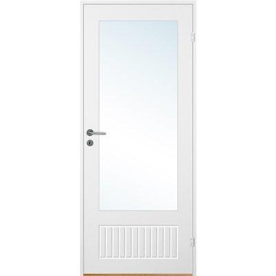 Innerdörr Bornholm - Kompakt dörrblad, spårfräst dekor & glas A14
