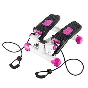 Stepmaskin - Med träningsband & träningsdator (svart-rosa S3033)