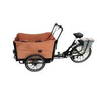 Eldriven Lådcykel med brun låda - 250W