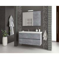 Möbelpaket Luxus 100 - Granitfärgat med spegelskåp