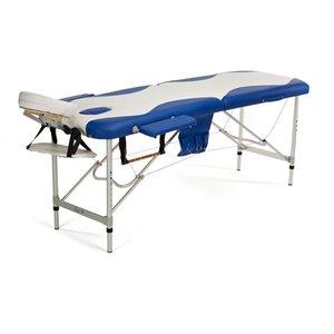 Massagebänk med metallben - 2 zoner - Tvåfärgad