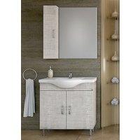 Möbelpaket Alba 80 beige med spegel   väggskåp