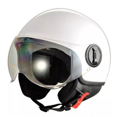 Hjälm för motorcykel - vit